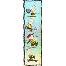 Charlie Brown Playing Ball Canvas Growth Chart