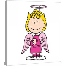 """Sally Angel Costume"" Peanuts by Charles M. Shultz Graphic Art on Canvas"