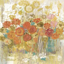 Floral Frenzy Painting Print on Wrapped Canvas