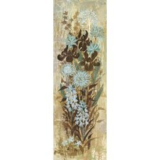 Floral Frenzy Blue I Painting Print on Wrapped Canvas