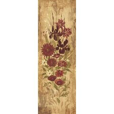 A Floral Frenzy Burgundy Painting Print on Wrapped Canvas