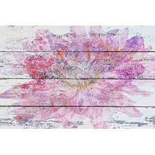 Pink & Gold Floral by Irena Orlov Painting Print on Wrapped Canvas