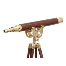 Anchor Floor Standing Brass/Wood Master Telescope