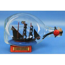 Bart's Royal Fortune Pirate Model Ship in a Bottle