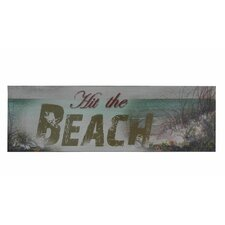 """24"""" Wooden Rustic Hit the Beach Sign Wall Décor"""