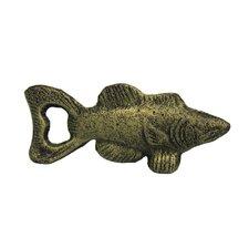 "5"" Rustic Silver Cast Iron Fish Bottle Opener"