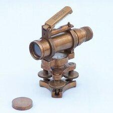 """Top Bubble Dumpy 5"""" Antique Brass Level Telescope"""