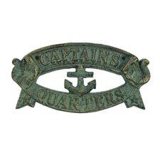 Captains Quarters Sign Wall Décor