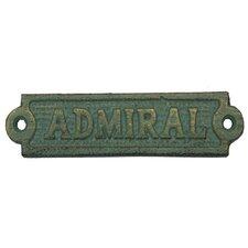 Admiral Sign Wall Décor