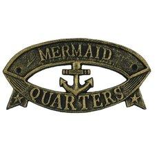 Mermaid Quarters Sign Wall Décor