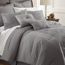 Savannah 8 Piece Embellished Comforter Set in Gray