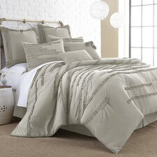 Collette 8 Piece Embellished Comforter Set in Linen