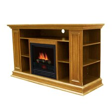 Boston Media TV Stand with Electric Fireplace