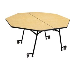 Mobile Folding Cafeteria  Adjustable Height Octagon Table