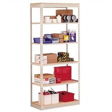 "Single Rivet 84"" H 5 Shelf Shelving Unit Add-On"
