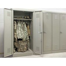 "Patriot Welded Double Door Gear Locker with 21"" Shelf"