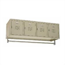 Vanguard 1 Tier 4 Wide Wall Mount Locker
