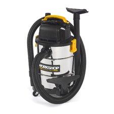 6 Gallon 4.25 Peak HP Stainless Steel Shop Wet/Dry Vacuum