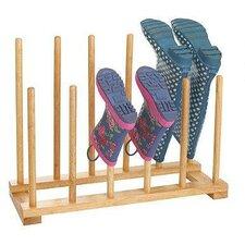 Wooden Boot Holder Rack