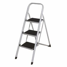 3-steps Folding Lightweight Step Ladder with 280 lb. Load Capacity