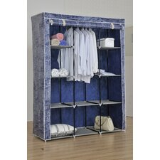 """19"""" D Large and Portable City Print Garment and Shoe Wardrobe"""
