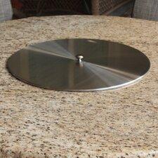Round Stainless Steel Burner Pan Lid