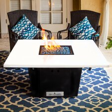 South Beach Metal/Quartz Gas Table Top Fireplace