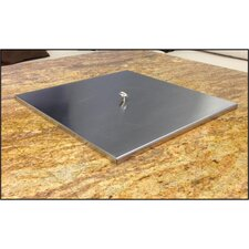 Square Stainless Steel Burner Pan Lid