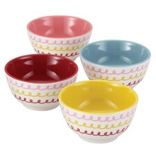 "4 Piece ""Icing"" Melamine Prepping Bowl Set"