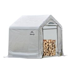 3' W x 5' D Polyethylene Firewood Storage Shed