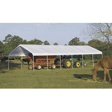 "18' x 40' Super Max 2"" Frame 14 Leg Canopy with White Cover"