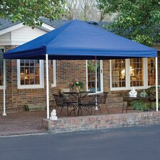 """12' x 12' Decorative 4 Leg Canopy 2"""" Frame with Blue Cover"""