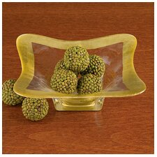 Square Leaf Decorative Bowl (Set of 2)