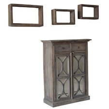 Durian 4 Piece Cabinet and Shelves Set