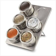 7 Piece Magnetic Stainless Steel Spice Jar Set