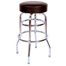 "Retro Home 30"" Swivel Bar Stool with Cushion"