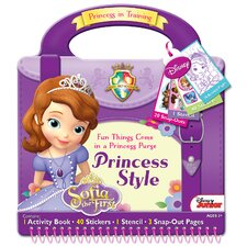 Sofia the First Style Activity Book Tote