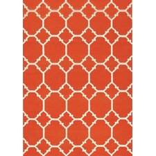 Orange Ogee Area Rug