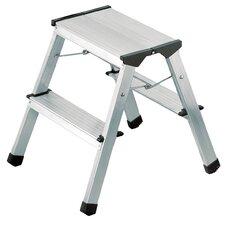 L90 2-Step Aluminum Step Stool with 330 lb. Load Capacity
