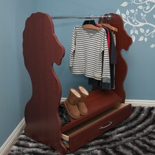 Lion Mobile Dress Up Clothes and Shoe Organizer Armoire
