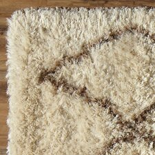 Evelyn Shag Rug, Parchment & Putty