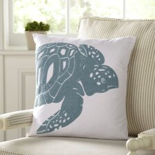 Turtle Undersea Cotton Pillow Cover
