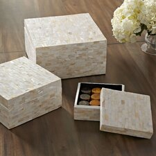 Caspian Keepsake Boxes (Set of 3)