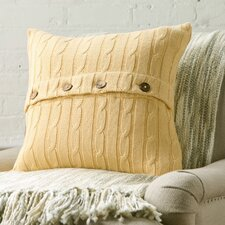 Clara Cable-Knit Cotton Pillow Cover