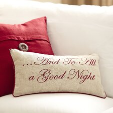 Nighttime Embroidered Pillow