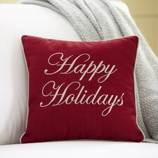 Holidays Embroidered Pillow