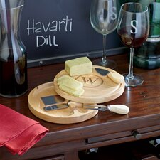 Personalized 5 Piece Gourmet Cheese Tray Set