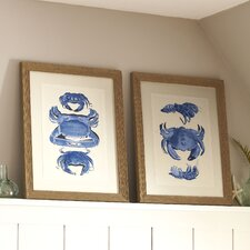 Crab Trio Framed Print Collection