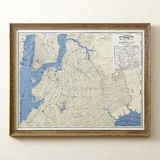 Brooklyn Map Framed Print