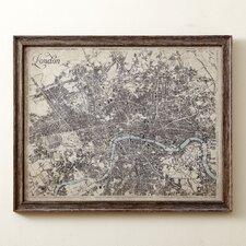 Sepia London Map Framed Print